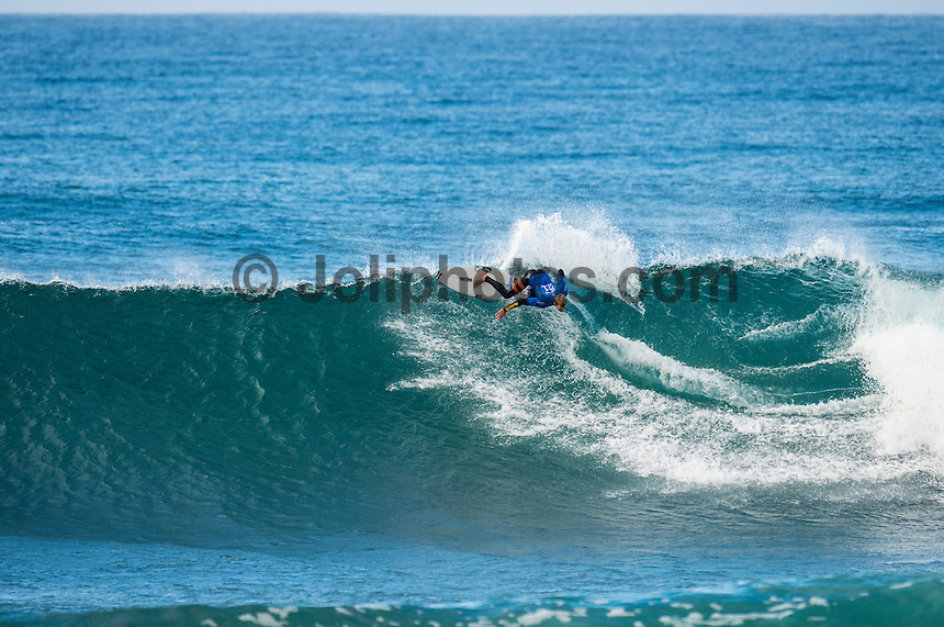 BELLS BEACH, Victoria/AUS (Saturday, March 26, 2016) Adrian Buchan (AUS) - Action at the Rip Curl Pro Bells Beach, the second stop on the World Surf League (WSL) Championship Tour (CT), continued today with the remaining six heats of Round 1, Round two and Round three of the Women's.<br /> There were light West to South West winds through the day with the swell in the 4'-6' range.<br /> <br /> Bells Beach has been hosting surfing tournaments for more than 50 years now, making it the most renowned spot on the raw and rugged southern coast of Victoria, Australia. The list of  Rip Curl Pro event champions is a veritable who's who of surfing icons, including many world champions.<br /> <br /> Surfing's greats have a way of dominating Bells. Mark Richards, Kelly Slater, and Mick Fanning all have four Bells trophies; Michael Peterson and Sunny Garcia, three; While Simon Anderson, Tom Curren, Joel Parkinson, Andy Irons, and Damien Hardman each grabbed a pair.<br /> <br /> The story is similar on the women's side. Lisa Andersen and Stephanie Gilmore have four Bells titles; Layne Beachley and Pauline Menczer, three; while Kim Mearig and Sally Fitzgibbons each have two.<br /> <br /> The 2016 event is about to kick off tomorrow and there was a packed warm up session at Bells this morning. <br /> Photo: joliphotos.com