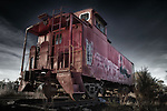 Rail car in Santa Fe, New Mexico
