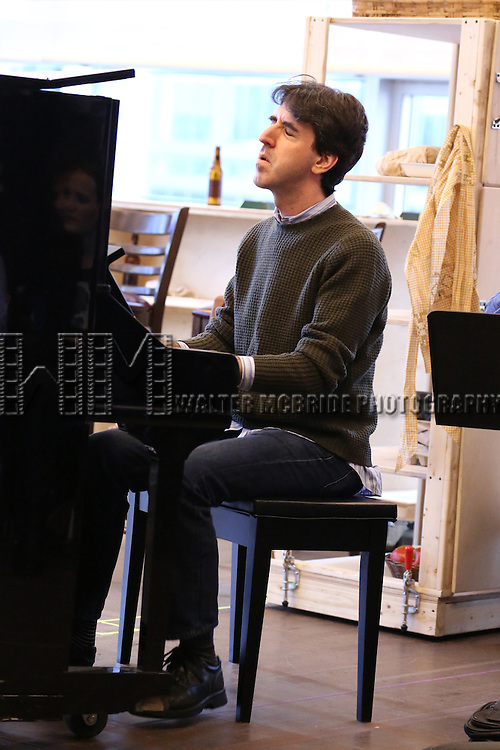 Jason Robert Brown performs at the 'The Bridges of Madison County' Media Day at the New 42nd Street Studios on December 16, 2013 in New York City.