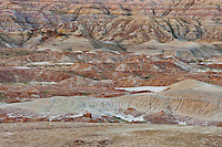 Painted hills and badlands in the Bighorn Basin
