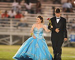 Senior maid Amber Lawrence (left) is escorted by John Jeffrey Nelson during Lafayette High vs. Byhalia in homecoming football action in Oxford, Miss. on Friday, September 24, 2010.