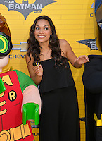 Rosario Dawson at the world premiere of &quot;The Lego Batman Movie&quot; at the Regency Village Theatre, Westwood, Los Angeles, USA 4th February  2017<br /> Picture: Paul Smith/Featureflash/SilverHub 0208 004 5359 sales@silverhubmedia.com