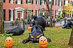 Halloween on Beacon Hill, Boston, Massachusetts, USA