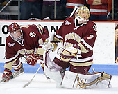 John Muse (BC - 1) - The visiting Boston College Eagles defeated the Boston University Terriers 3-2 to sweep their Hockey East series on Friday, January 21, 2011, at Agganis Arena in Boston, Massachusetts.