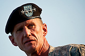 United States Army General Stanley A. McChrystal addresses the audience during his retirement ceremony on Ft. McNair in Washington DC, Friday, July 23, 2010.  McChrystal  retired from the U.S. Army after 34 years of service to his nation during both peace and war time.  .Mandatory Credit: D. Myles Cullen - U.S. Army via CNP