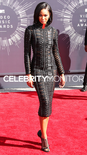 LOS ANGELES, CA, USA - AUGUST 24: Chanel Iman at the 2014 MTV Video Music Awards held at The Forum on August 24, 2014 in the Los Angeles, California, United States. (Photo by Xavier Collin/Celebrity Monitor)
