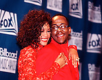 Whitney Houston and Bobby Brown 1993.© Chris Walter.