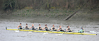 London, Great Britain,  Cambridge University Women's BC. A, rowing past Chiswick Pier, during the 2012 Head of the River Race, raced over Rowing Course Championship course,  Mortlake to Putney  4.25 Miles, on the River Thames Saturday  03/03/2012 [Mandatory Credit: © Peter Spurrier/Intersport Images]