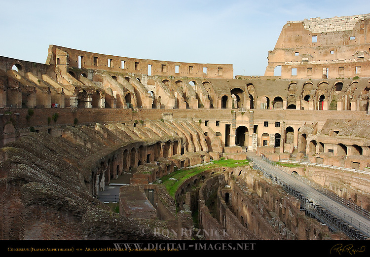 Colosseum Seating Vaults Arena and Hypogeum (underground) Rome