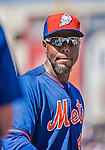 6 April 2015: New York Mets infielder John Mayberry Jr. awaits his turn in the batting cage prior to the Season Opening Game against the Washington Nationals at Nationals Park in Washington, DC. The Mets rallied to defeat the Nationals 3-1 in their first meeting of the 2015 MLB season. Mandatory Credit: Ed Wolfstein Photo *** RAW (NEF) Image File Available ***