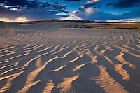 Killpecker Sand Dunes in the Red Desert of Wyoming at sunset