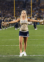 Pitt dance team member. The Miami Hurricanes defeated the Pittsburgh Panthers 31-3 at Heinz Field, Pittsburgh, Pennsylvania on September 23, 2010.