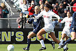 05 December 2010: Stanford's Christen Press (23) and Notre Dame's Kecia Morway (16). The Notre Dame University Fighting Irish defeated the Stanford University Cardinal 1-0 at WakeMed Stadium in Cary, North Carolina in the 2010 NCAA Women's College Cup Championship Game.
