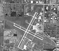 aerial photo map of Outgamie County Regional Airport, Appleton, Wisconsin