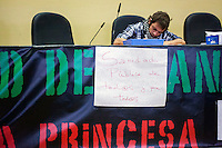 A Protester occupying the Princess hospital against the privatization of the public health in Spain