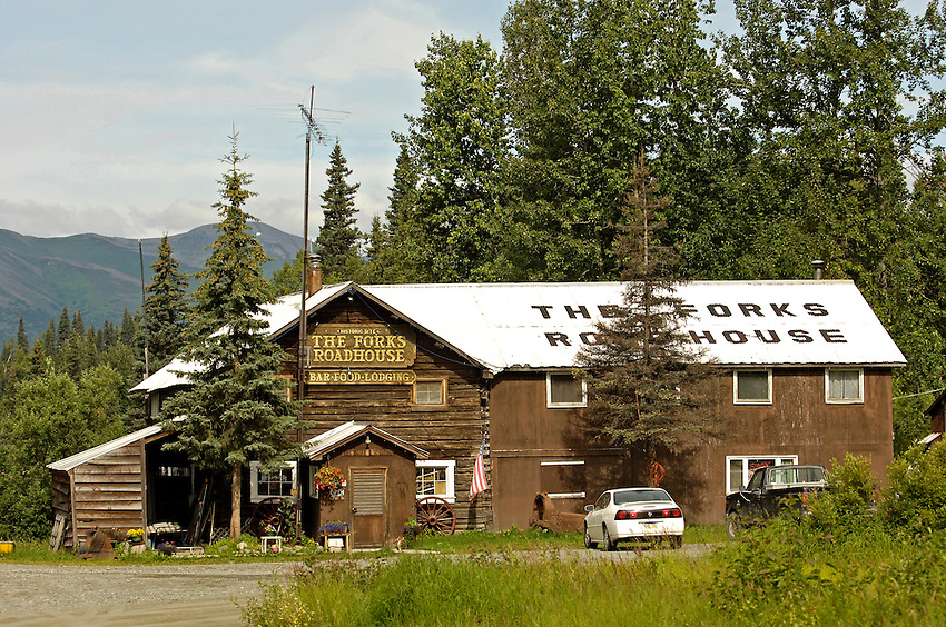 The Forks Roadhouse. - Petersville Road 20 miles from Trapper Creek.    Bob Gathany photo.