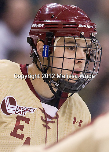 Johnny Gaudreau (BC - 13) - The Boston College Eagles defeated the University of Maine Black Bears 4-1 to win the 2012 Hockey East championship on Saturday, March 17, 2012, at TD Garden in Boston, Massachusetts.