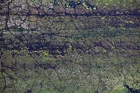 aerial photograph Tolay Lake, Tolay Lake Regional Park, Sonoma County, California