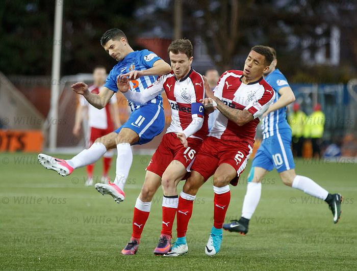 Jordan Jones launched by Andy Halliday and James Tavernier