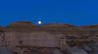 Moonrise at Dinosaur Park, Sept 30, 2012 -- with a nearly Full Moon the day after Harvest Moon. Note the deep on top of the hill. Shot as part of a time-lapse sequence with Canon 7D at ISO 400 and 50mm Sigma lens.