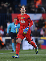 FUSSBALL CHAMPIONS LEAGUE  SAISON 2015/2016 VIERTELFINAL RUECKSPIEL Atletico Madrid - FC Barcelona       13.04.2016 Torwart Marc Andre ter Stegen (Barca)