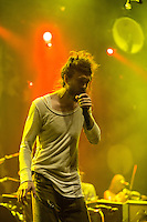 Edward Sharpe and the Magnetic Zeros performing at Rod Laver Arena, Melbourne, 25 October 2012