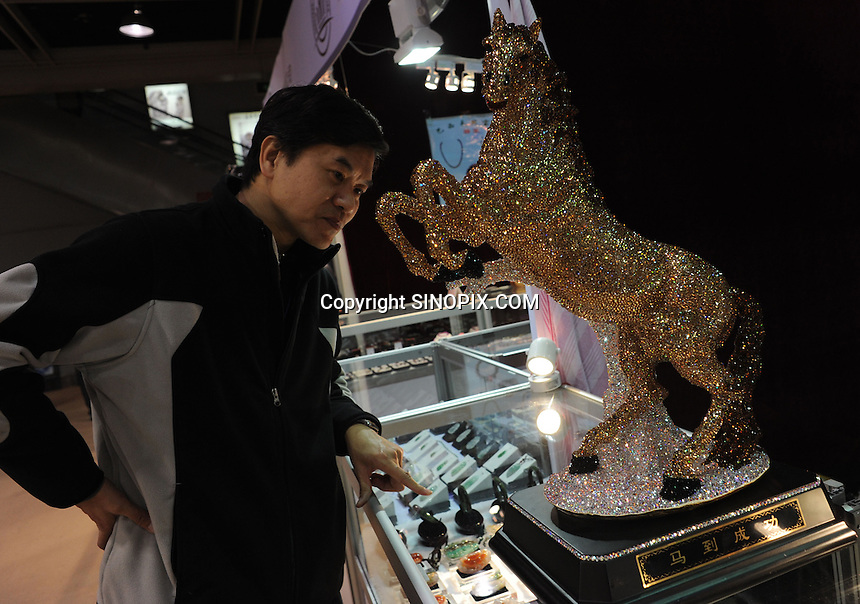 Buyers at the Hangzhou International Luxury Exhibition in Hangzhou, China 24 Jan 2010.<br /> <br /> PHOTOS BY SINOPIX