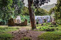 The ancient Summer Palace of King Kamehameha III and Queen Kalama (or Kaniakapupu Ruins), Nu'uanu Valley, O'ahu.