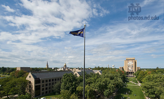 ND Campus from Notre Dame Stadium...Photo by Matt Cashore/University of Notre Dame