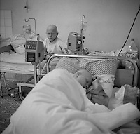 Minsk, Belarus, Ocober 1995..The explosion at the Chernobyl Nuclear Power Plant on April 26 1986 was the worst nuclear accident in history..Children undergoing cancer treatment against the  effects of radiation from the accident..