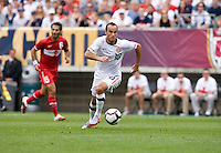 Landon Donovan (10) of the USMNT brings the ball up the field at Lincoln Financial Field in Philadelphia, PA.  The USMNT defeated Turkey, 2-1.