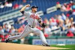 26 September 2010: Atlanta Braves pitcher  Brandon Beachy on the mound against the Washington Nationals at Nationals Park in Washington, DC. The Nationals defeated the pennant-seeking Braves 4-2 to take the rubber match of their 3-game series. Mandatory Credit: Ed Wolfstein Photo