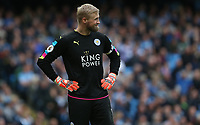 Leicester City's goalkeeper Kasper Schmeichel <br /> <br /> Photographer Stephen White/CameraSport<br /> <br /> The Premier League - Manchester City v Leicester City - Saturday 13th May 2017 - Etihad Stadium - Manchester<br /> <br /> World Copyright &copy; 2017 CameraSport. All rights reserved. 43 Linden Ave. Countesthorpe. Leicester. England. LE8 5PG - Tel: +44 (0) 116 277 4147 - admin@camerasport.com - www.camerasport.com