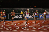 Sanya Richards won the 400m dash at the Reebok Grand Prix in New York City on Saturday, May 31, 2008. Photo by Errol Anderson,The Sporting Image.
