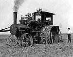 Client: J.I. Case Company<br /> Product: Case Steam Traction Engine<br /> Ad Agency: Photograph used in Case Advertising<br /> <br /> Westmoreland County PA:  The new Case Steam Traction Engine operating on a farm - 1912.  Brady Stewart was hired by Case to photograph the new machine for a brochure.