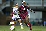 23 October 2014: Florida State's Jamia Fields (4). The University of North Carolina Tar Heels hosted the Florida State University Seminoles at Fetzer Field in Chapel Hill, NC in a 2014 NCAA Division I Women's Soccer match. The game ended in a 1-1 tie after double overtime.