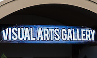 The Visual Arts Gallery sign at the 2011 Orange County Fair.