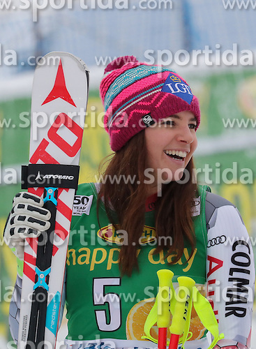 04.12.2016, Lake Louise, USA, FIS Weltcup Ski Alpin, Lake Louise, Super G, Damen, im Bild Tina Weirather (LIE, 2. Platz) // second placed Tina Weirather of Liechtenstein reacts after her run of the women's SuperG of the Lake Louise FIS Ski Alpine World Cup at the Lake Louise, United Staates on 2016/12/04. EXPA Pictures &copy; 2016, PhotoCredit: EXPA/ SM<br /> <br /> *****ATTENTION - OUT of GER*****
