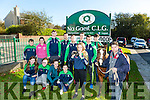 Na Gaeil  launching fundraising race night  on SATURDAY 19 NOVEMBER 8 30PM. Pictured front l-r Freya O'Connor, Dervla Quirke, Jane Lucey, Fiona Lucey, Sarah Barrett, Eamon Browne with Maeve the Pony, Back l-r Cian O'Neil, Carol O'Neil, Diarmuid O'Connor, Dylan Seymor, Ryan   O'neill, Niall O'Mahony, Andrew Barry,