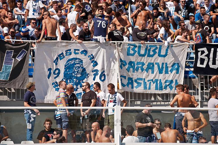 PESCARA (PE) 16/09/2012: SERIE A PESCARA - SAMPDORIA. NELLA FOTO LA CURVA NORD DEL PESCARA CALCIO. FOTO DILORETO ADAMO