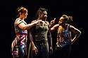 London, UK. 13.02.2014. Cindy Claes presents her Wild Card production of DANCEHALL TAKEOVER in the Lilian Baylis Studio, at Sadler's Wells. Picture shows: IS MY WHINING WINDING YOU UP, with Andrea Queens, Natalie Baylie and Cindy Claes. Photograph © Jane Hobson.