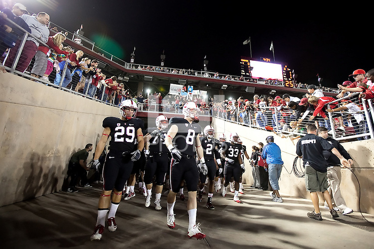 STANFORD, CA - September 18, 2010: Team during a football game against Wake Forest at Stanford Stadium in Stanford, California. Stanford won 68-24.