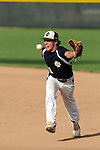 IC second baseman has this ground ball licked in the late innings of a sectional game played at Benedictine Universty.