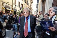 Roma  23 Aprile 2013.Si riunusce  la direzione nazionale del Partito Democratico. Pierluigi Castagnetti