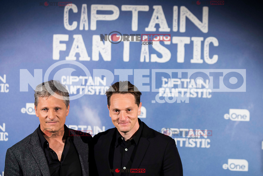 "American actor Viggo Mortensen and the director of the film, Matt Ross attends to the presentation of the film ""Captain Fantastic"" at Ursa Hotel in Madrid. September 11, Spain. 2016. (ALTERPHOTOS/BorjaB.Hojas) NORTEPHOTO.COM"