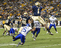 September 06, 2008: Pitt wide receiver Cedric McGee (#1) makes a one-handed catch. The Pitt Panthers defeated the Buffalo Bulls 27-16 on September 06, 2008 at Heinz Field, Pittsburgh, Pennsylvania.