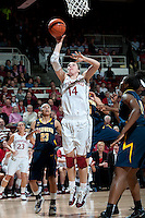 STANFORD, CA - March 3, 2010: Stanford Cardinal's Kayla Pedersen during Stanford's 75-51 win over the University of California at Maples Pavilion in Stanford, California.