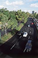 Traffic on the periferico, Mexico City. 3-9-04