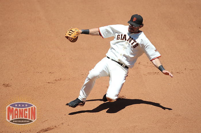 SAN FRANCISCO - June 23:  Ryan Klesko of the San Francisco Giants slides into first base while playing defense to tag out a runner during the game against the New York Yankees at AT&T Park in San Francisco, California on June 23, 2007. Photo by Brad Mangin