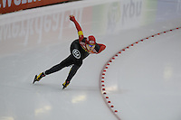 SCHAATSEN: HEERENVEEN: IJsstadion Thialf, 07-02-15, World Cup, 1000m Ladies Division A, Qishi Li (CHN), ©foto Martin de Jong